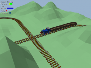 Train game early screen shot