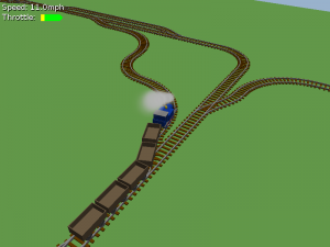The game engine supports quite complex track layouts