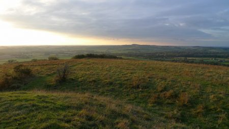 Sunset on South Downs